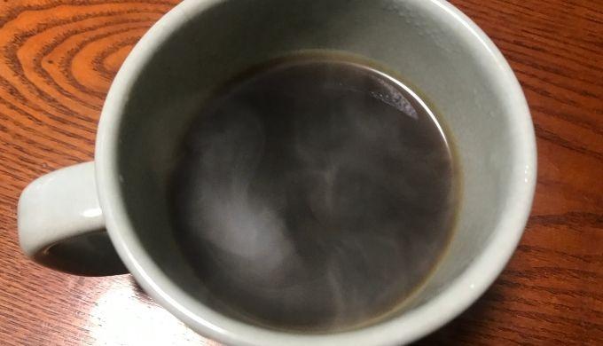 自分で淹れたチャコールバターコーヒー