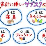 【ヒルナンデス】家計に優しいサブスク☆ベスト5!